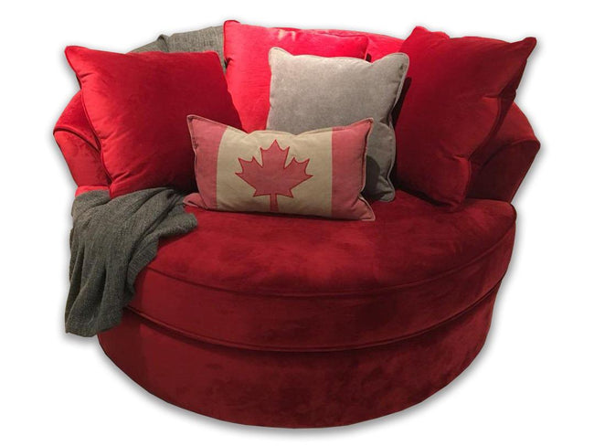 Red Custom Nest Chair, Made in Canada 🇨🇦 | Calgary's Furniture Store