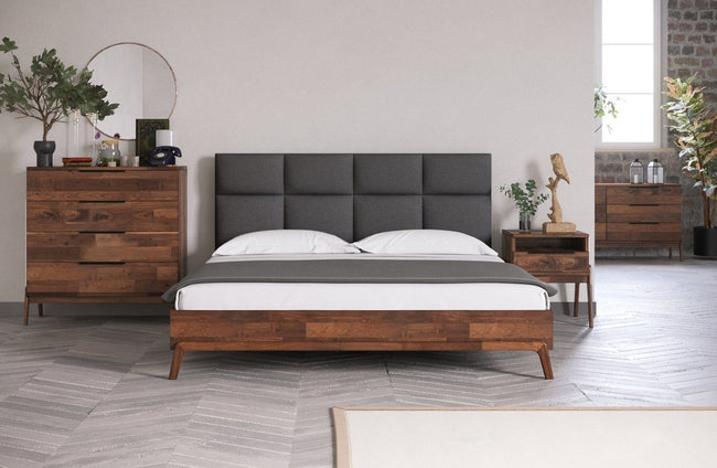 Remix Bed - Grey | Calgary's Furniture Store