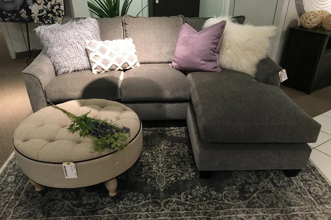 CUSTOM MADE IN CANADA, VIVO REVERSIBLE SECTIONAL with down feathers - Showhome Furniture