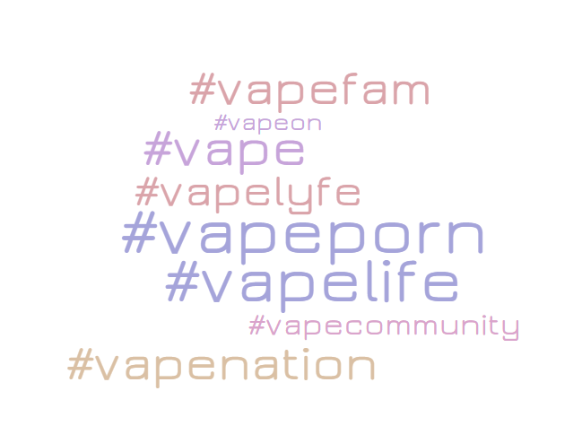 Top #vape hashtags for 2018