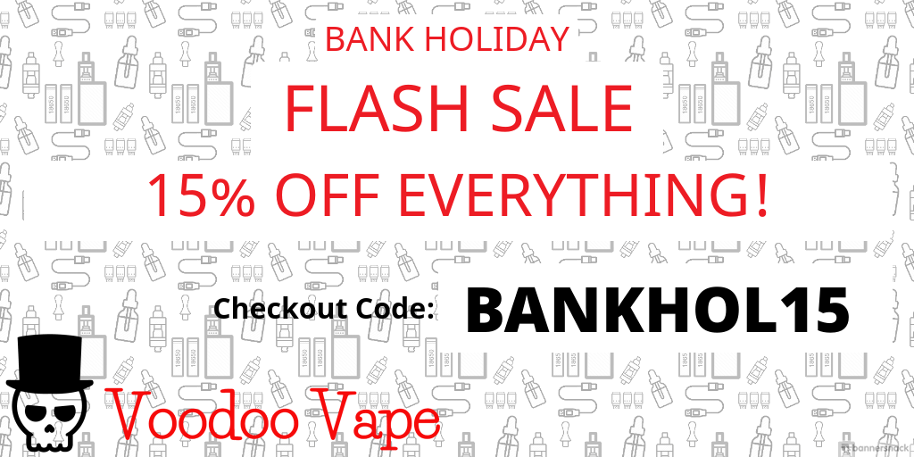 15% OFF - BANK HOLIDAY FLASH SALE - Discount Code: WELCOME10