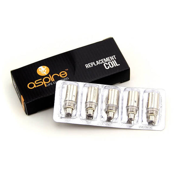 ASPIRE BVC Replacement Coils - 1.6 / 1.8 / 2.1 Ohm - 5 Pack-coils-Aspire-1.6 Ohm-1 x 5-Pack-Voodoo Vape