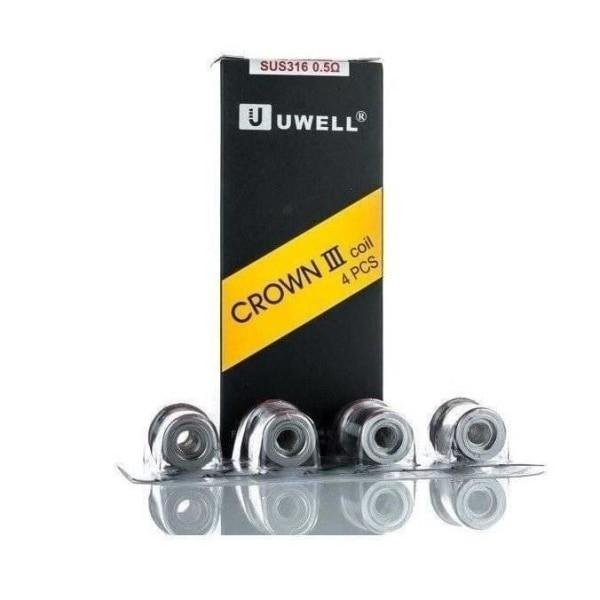 Uwell Crown 3 Coils – 0.25/0.4/0.5 Ohms-Coils-Uwell-0.25 Ohm-Voodoo Vape