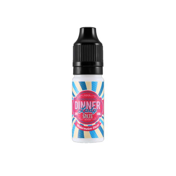20mg Dinner Lady 10ml Flavoured Nic Salt-E-Liquid-Dinner Lady-Watermelon Slices-Voodoo Vape