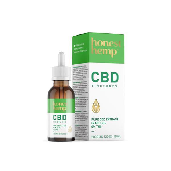 Honest Hemp 2000MG 10ml Pure CBD Extract in MCT Oil-CBD Products-Honest Hemp-Voodoo Vape