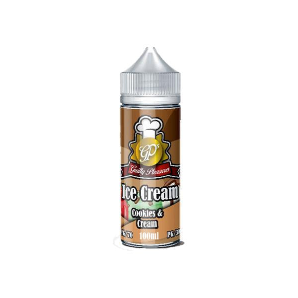 Guilty Pleasures Ice Cream 0mg 100ml Shortfill (70VG/30PG)-E-Liquid-Guilty Pleasures-Cookies And Cream-Voodoo Vape
