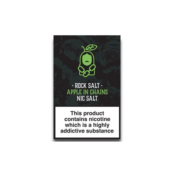 Rock Salt Nic Salt By Alfa Labs 20MG 10ml (50PG/50VG)-E-Liquid-Rock Salt-Apple In Chains-Voodoo Vape