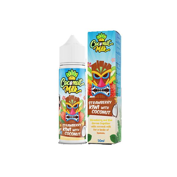 Coconut Milk 0mg 50ml Shortfill (70VG/30PG)-E-Liquid-Coconut Milk-Strawberry Kiwi with Coconut-Voodoo Vape