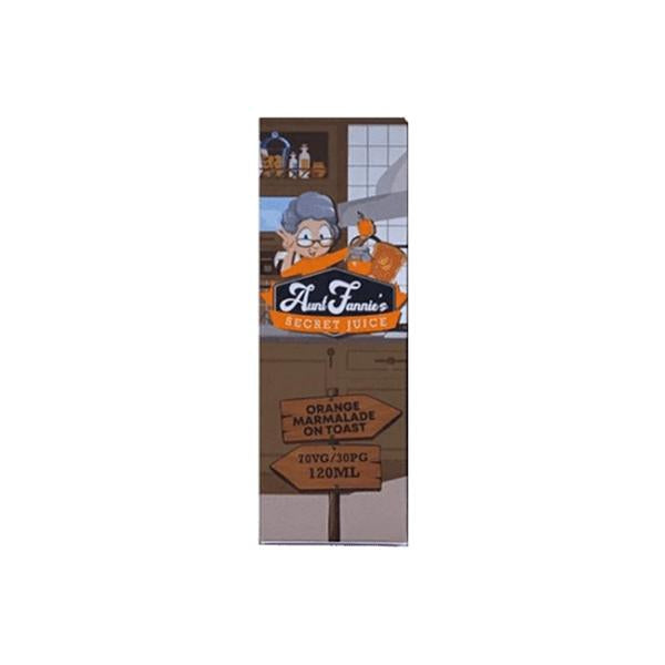 Aunt Fannie's Secret Juice 100ml Shortfill (70VG/30PG)-E-Liquid-Aunt Fannie's-Orange Marmalade-Voodoo Vape