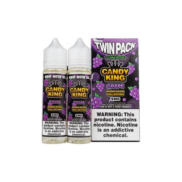 Candy King Bubblegum Edition Twin Pack 0mg 2 x 50ml Shortfill (70VG/30PG)-E-Liquid-Candy King-Grape-Voodoo Vape