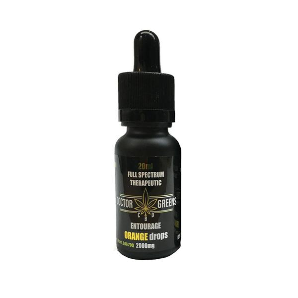 Doctor Green's CBD Drops Tinctures 2000mg 20ml-CBD Products-Doctor Green's-Orange-Voodoo Vape