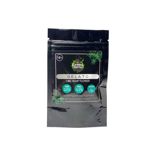 Green Apron CBD Flower Tea Pre Rolled - Gelato (20% CBD)-CBD Products-Green Apron-Voodoo Vape