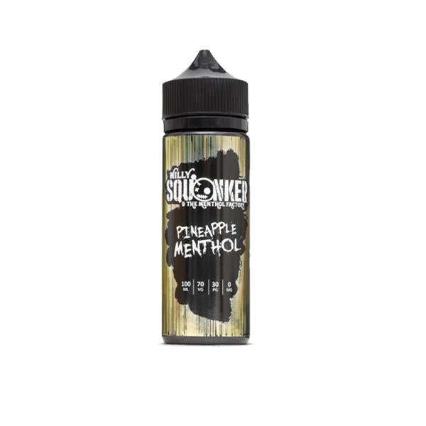 Willy Squonker and the Menthol Factory 0mg 100ml Shortfill (70VG/30PG)-E-Liquid-Willy Squonker-Pineapple Menthol-Voodoo Vape