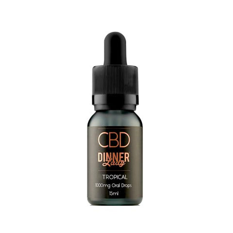 Dinner lady 1000mg CBD 30ml Oral Drops-CBD Products-Dinner Lady-Tropical-Voodoo Vape