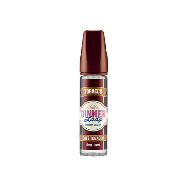 Dinner Lady Tobacco 0mg 50ml Shortfill (70VG/30PG)-E-Liquid-Dinner Lady-Cafe Tobacco-Voodoo Vape