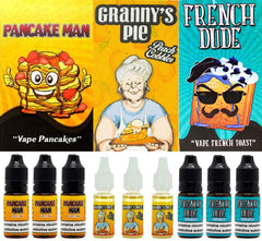 Vape Breakfast Classics Eliquid Range - 30ml / 10ml-E-LIQUID-Vape Breakfast Classics-Pancake Man-3MG-30ml (3 x 10ml)-Voodoo Vape
