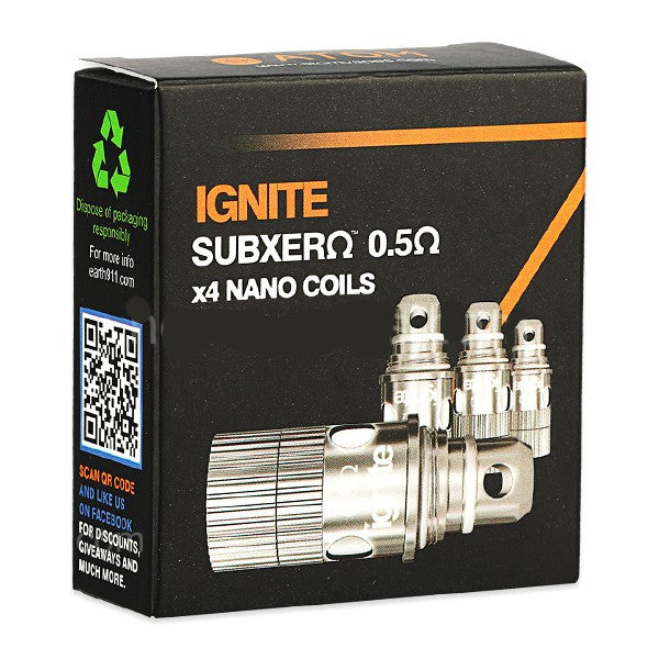 Atomvapes IGNITE Subxero 0.5 Ohm Coils - 4 Pack