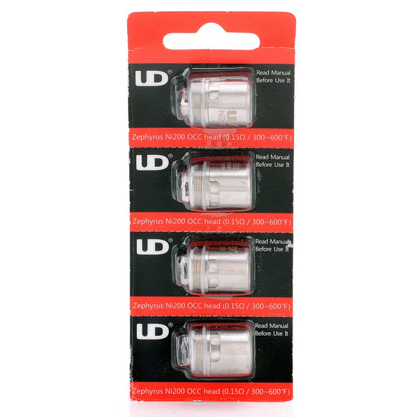 YouDe UD Zephyrus Ni200 OCC Coil Heads - 0.15 ohm - 4 Pack