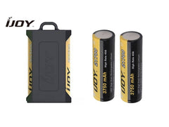 IJOY BATTERIES & CASE BUNDLE - 2 x IJOY 21700 3750mAh Batteries + Black IJOY Dual Case - UK Free Delivery