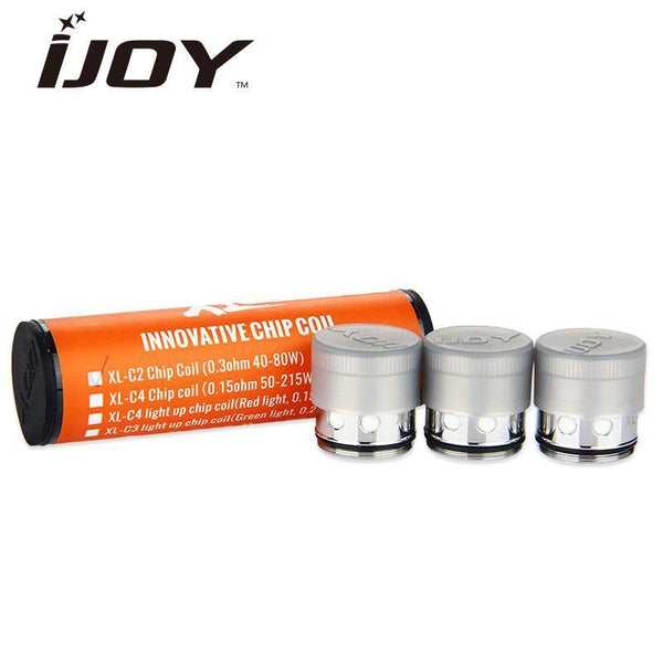 IJOY coils IJOY EXO XL Atomizer Coil 0.3ohm XL-C2 Red Light-up Chip Coil for EXO XL Tank