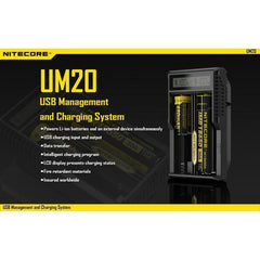 Nitecore ACCESSORIES Nitecore UM20 Double Bay Charger