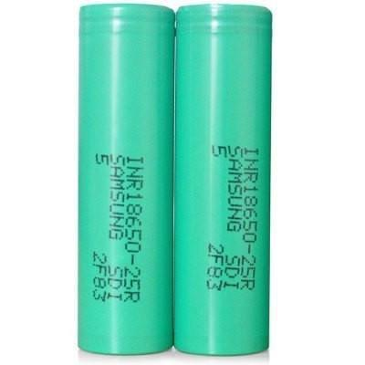 Samsang BATTERIES & MODS Authentic Samsung INR18650 25R 3.6V 2500mAh Rechargeable Li-ion Batteries (2-Pack)