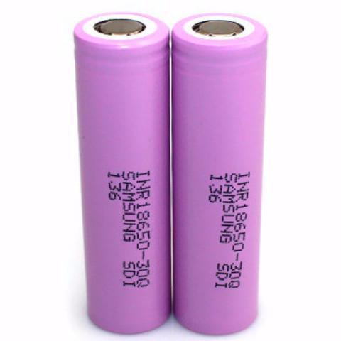 Samsang BATTERIES & MODS Authentic Samsung INR18650 30Q 3.6V 3000mAh Rechargeable Li-ion Batteries (2-Pack)