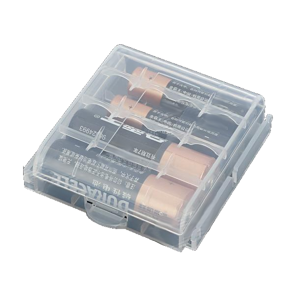 2 x Battery Storage Case for 4 x AA/AAA Batteries - 5 Colours