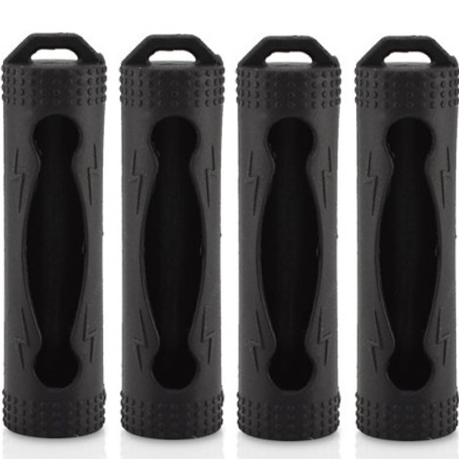 Voodoo Vape ACCESSORIES Black 4 x 18650 Battery Protective Silicone Cover / Case
