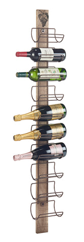 10 Champagne Bottle Wine Wall Rack