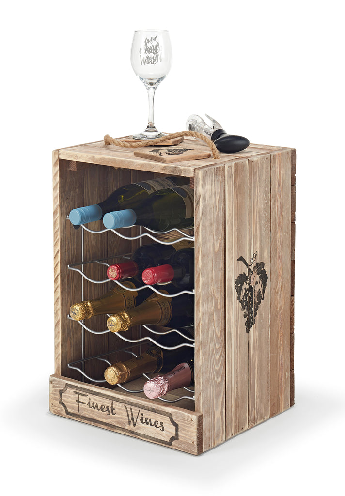 Wine Rack Free Standing 12 Wine Bottles Also Champagne And Prosecco