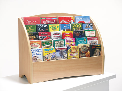 Wooden Leaflet Holder Counter Display Stand - 30 Slots for DL, A5 and A4