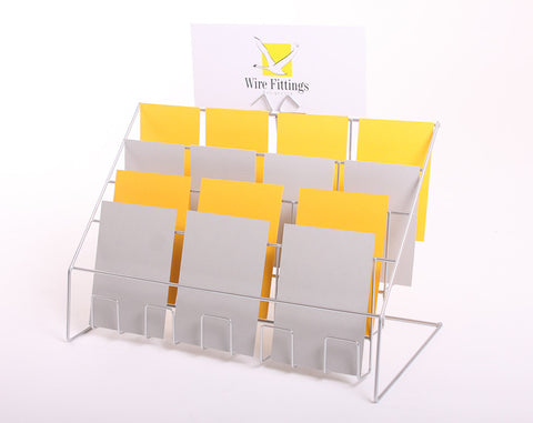 Counter Display for Mixed Sized Cards, with 4 Tiers-4TCI