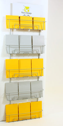 Greeting Card Display Wall Rack or Slatwall for mixed sized Cards