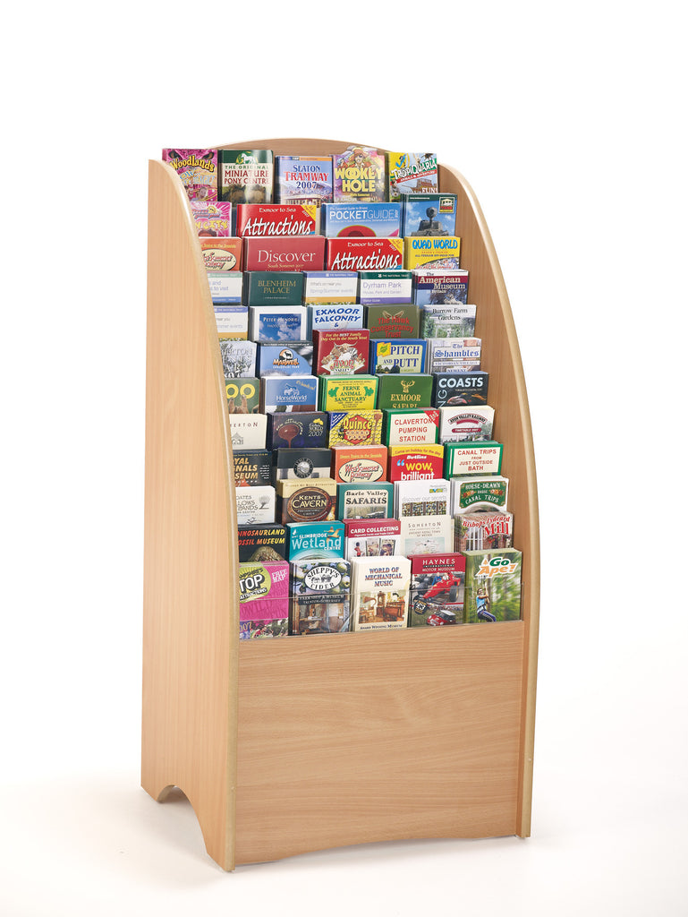 Wooden Leaflet Floor Display 60 Slots For Dl A5 And A4