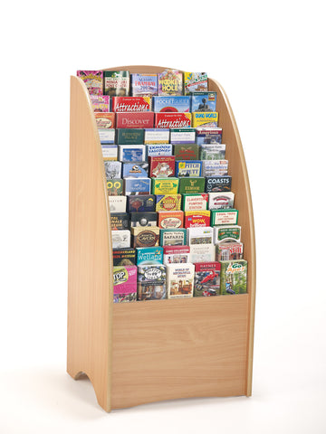 Wooden Leaflet Floor Display holder 84 Slots for DL, A5 and A4