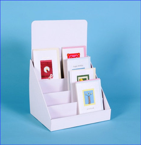 Cardboard Greeting Card Counter Display for Mixed Sizes Cards-C4T12