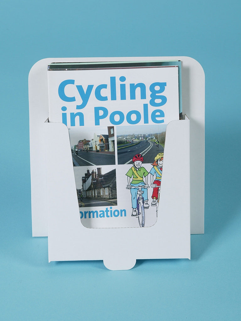 Buy Card Display Stand A5 Cards Wire Fittings Brochure Flyer Custom Cardboard Leaflet Holder