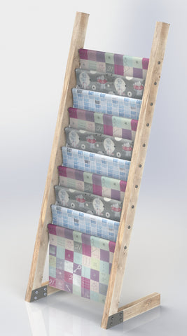 Flat Pack Wooden Gift Wrap Display