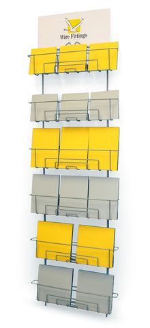 Greeting Card Wall Rack or Slatwall Rack for mixed sized Cards