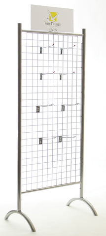 Multi-Purpose Mesh Display Stand, 2 sided, FLAT PACKED-FPMSEI