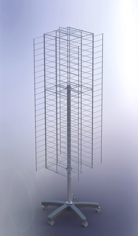 Multi-Purpose Rotary Mesh Display Stand