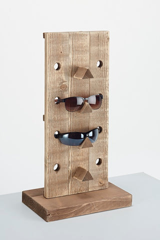 Wooden Single Glasses Counter Display