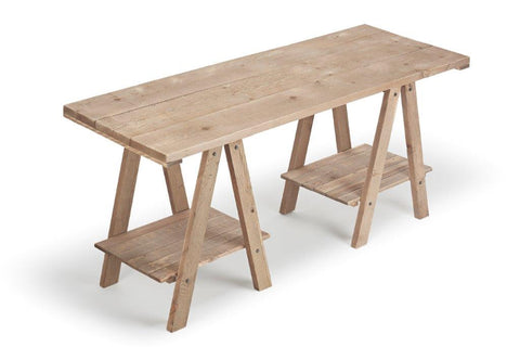 Wooden Display Trestle Table