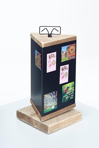Wooden Magnet Counter Display 3 Sided