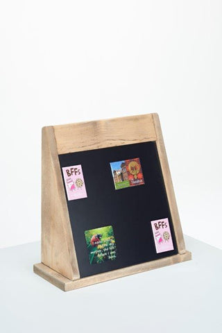 Wooden surround magnet Counter Display Stand