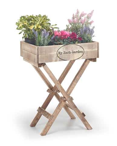 Wooden Herb Box with Stand