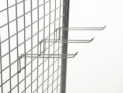 Euro Hooks, 4.5 inch Euro hooks for mesh displays-MSH4.5I