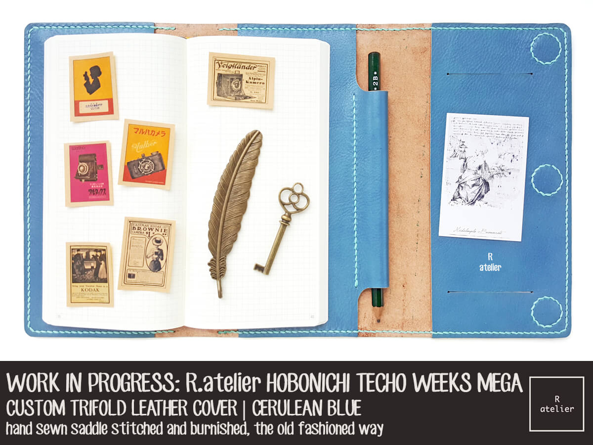 r atelier hobonichi techo weeks mega trifold planner leather cover