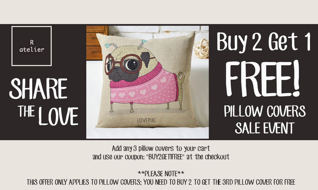 R.atelier Pillow Covers Sale Event! Buy 2 Get 1 Free!